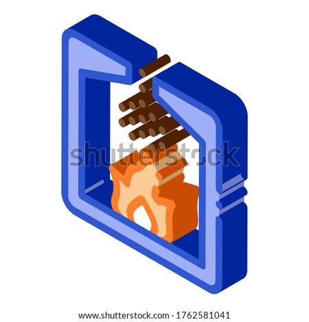 Fabriek verbranding procede isometrische icon vector Stockfoto © pikepicture