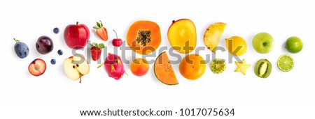 papaya isolated on white background Stock photo © ozaiachin