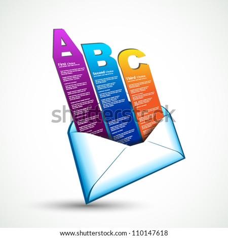 Carta stile e-mail elementi effettivo Foto d'archivio © DavidArts