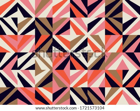 seamless vintage delicate colored wallpaper geometric or floral pattern on paper texture in grunge stock photo © h2o