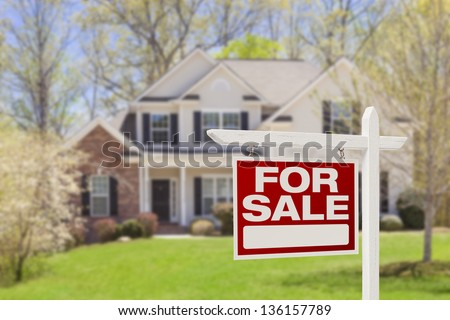 house, real estate sign Stock photo © djdarkflower