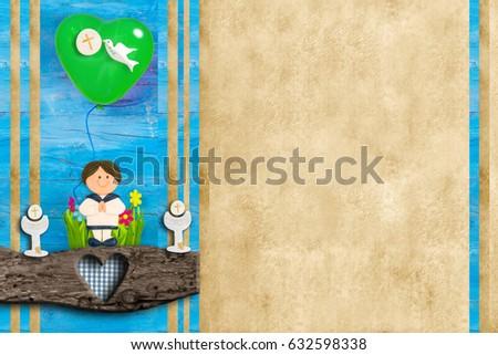 Szent úrvacsora keret fotó szöveg matróz Stock fotó © marimorena