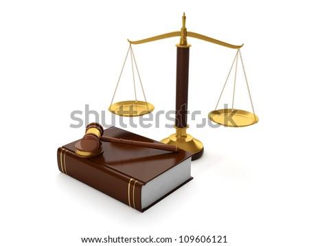 ilustração · 3d · legal · auxiliar · saldo · martelo · lei - foto stock © kolobsek