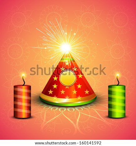 Stock photo: Beautiful diwali crackers hindu festival bright colorful vector