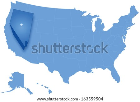 Map of States of the United States where Nevada is pulled out Stock photo © Istanbul2009