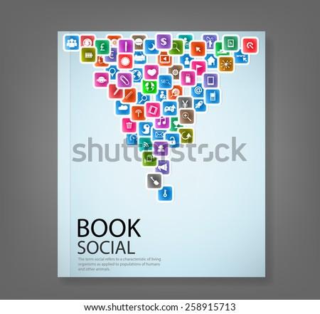 Worldwide communication and social media cover Stock photo © DavidArts