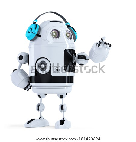 Robot cuffie invisibile oggetto isolato Foto d'archivio © Kirill_M