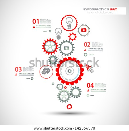 Infographic design template. Ideal to display information, ranking and statistics with an original a Stock photo © DavidArts