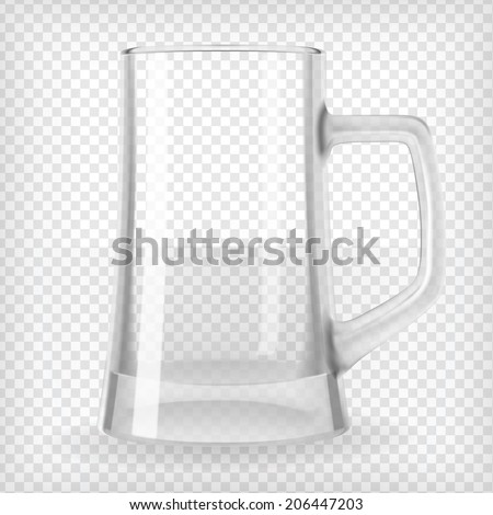 Beer with froth in the glass and empty transparent goblet for drinking Stock photo © LoopAll