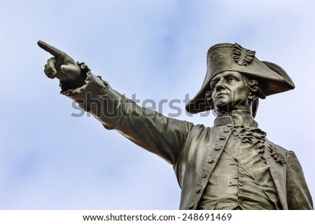 General Rochambeau Statue Lafayette Park Autumn Washington DC Stock photo © billperry