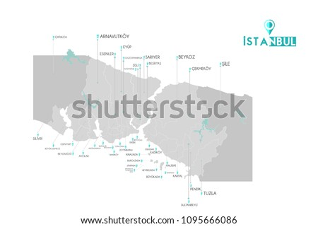 Istanbul Map with administrative districts where Fatih is pulled Stock photo © Istanbul2009