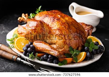 Roast Turkey Stock photo © derocz