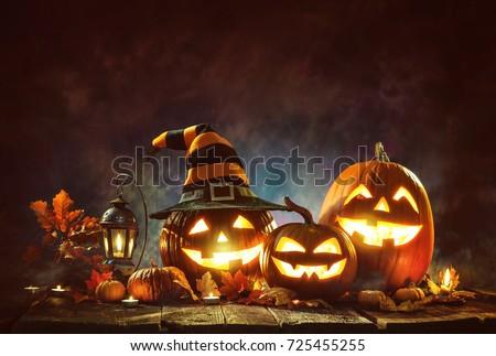 Terrível abóbora lanterna halloween férias Foto stock © orensila