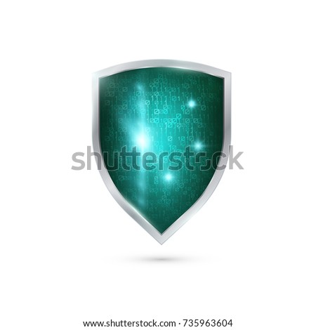 Computer display with shield - internet security, antivirus or firewall Stock photo © netkov1
