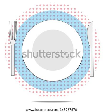 örnek plaka çatal bıçak kırmızı gıda Stok fotoğraf © gigra
