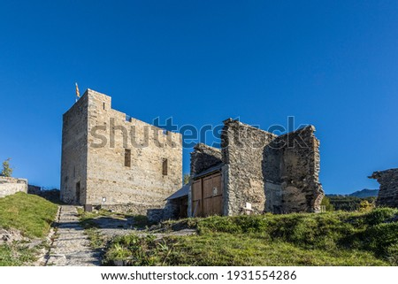 citadel Vauban in  Seyne les Alpes in the french Region provence Stock photo © meinzahn