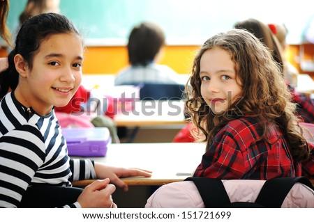 Aranyos iskolások osztályterem oktatás tevékenységek nő Stock fotó © zurijeta