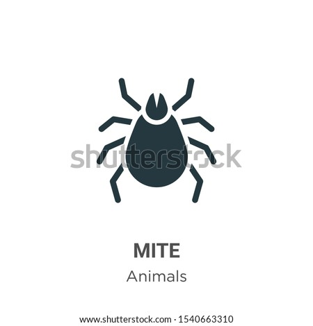 Encephalitis tick. Mite skin dust parasite vector icon illustration. Parasite silhouette. Bed bug Ci Stock photo © Hermione