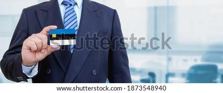 クレジットカード エストニア フラグ 銀行 プレゼンテーション ビジネス ストックフォト © tkacchuk