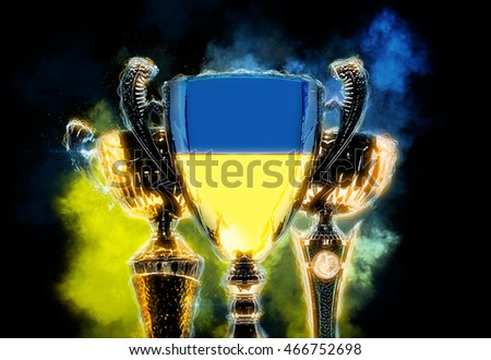 Trofee beker vlag Oekraïne digitale Stockfoto © Kirill_M