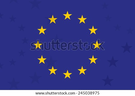 european union flag with additional stars on background unusual design original proportion and co stock photo © jeksongraphics