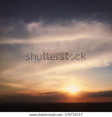 blurred vector beautiful epic sunset background abstract vector backdrop nature background landsc stock photo © jeksongraphics
