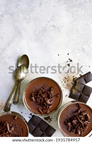 traditional style homemade chocolates with white mousse delicious dessert for valentines day or ro stock photo © frimufilms