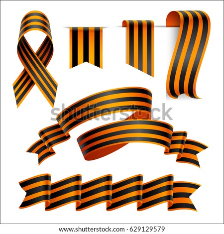 May 9 frame. St. George ribbon. Background Russian day of victor Stock photo © popaukropa