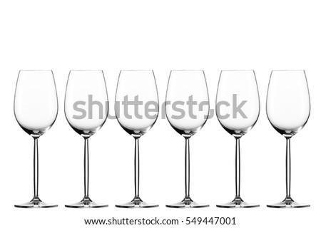 Zdjęcia stock: Koktajl · szkła · kolekcja · kieliszki · do · wina · odizolowany · biały