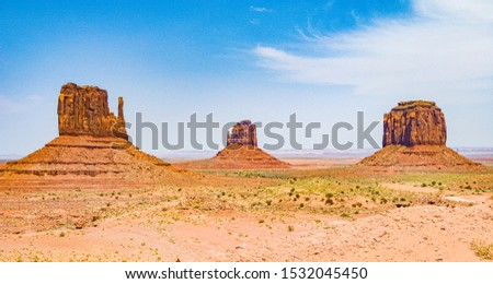 Mittens and Merric Butte  are giant sandstone formation in the M Stock photo © meinzahn