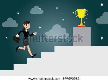 Business ragazza motivazione cartoon illustrazione eps10 Foto d'archivio © NikoDzhi