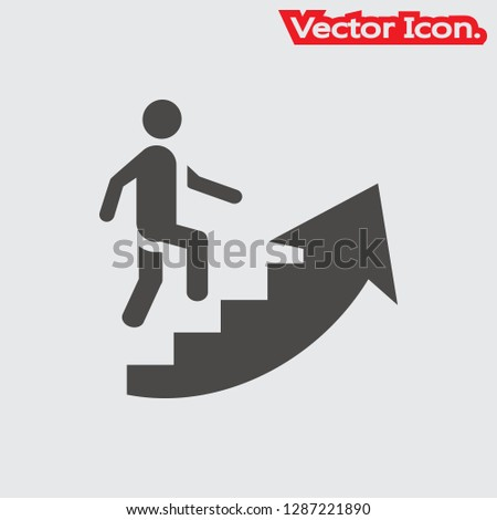 Career ladder icon. Steps from managers. Management sign. Busine Stock photo © popaukropa