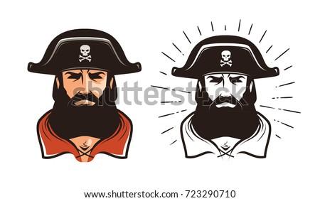 Pirata enojado mal agresivo vector Foto stock © popaukropa
