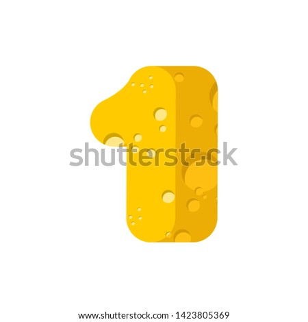 Рисунок сыра шрифт цифра один алфавит Сток-фото © popaukropa