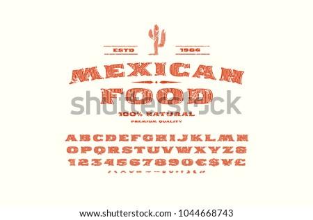 Vintage wild embleem sticker typografie ruw Stockfoto © JeksonGraphics