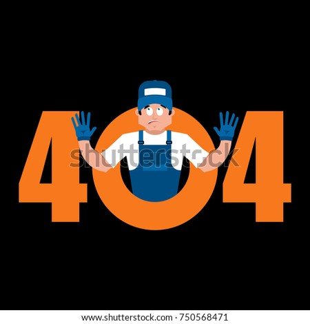 Error 404 Plumber surprise. Page not found template for web site Stock photo © popaukropa