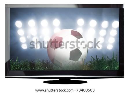 Moderno esbelto plasma tv preto vidro Foto stock © Traimak