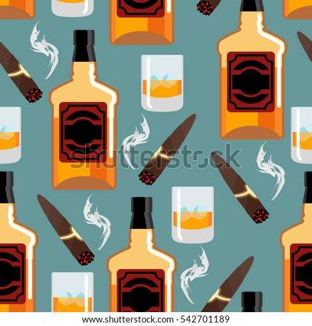 Botella whisky ornamento brandy beber Foto stock © popaukropa