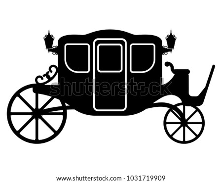 royal carriage for transportation of people black outline silhou stock photo © konturvid