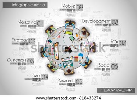 テンプレート ブレーンストーミング 表 インフォグラフィック デザイン 要素 ストックフォト © DavidArts