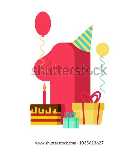Número velas aniversário um descobrir férias Foto stock © MaryValery