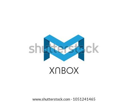 Abstrato letra m logotipo caixa forma Foto stock © taufik_al_amin