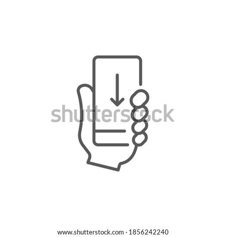 Simgesi indir ok aşağı yalıtılmış mükemmel piksel Stok fotoğraf © taufik_al_amin