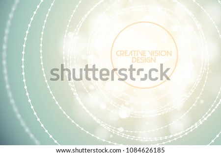Vector twisted tunnel delicate structure shining flares on light background. Glowing center sci-fi Stock photo © Iaroslava