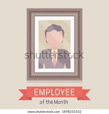 Empregado mês o melhor trabalhador retrato quadro Foto stock © popaukropa