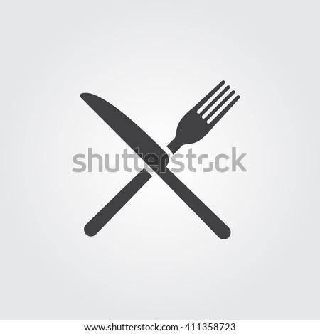 çatal bıçak ikon katı yalıtılmış modern Stok fotoğraf © kyryloff