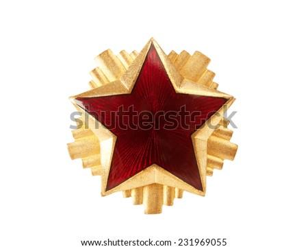 edad · rojo · estrellas · militar · CAP · aislado - foto stock © boggy