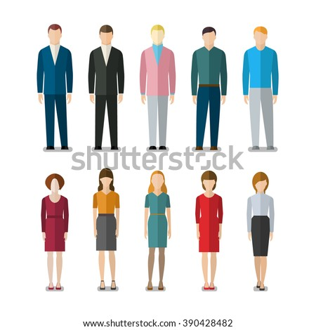 Office Businessman Outfit Character Illustration Design Template Stock photo © smith1979
