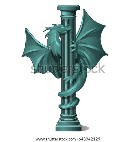 Vintage pietra colonna decorato figura Dragon Foto d'archivio © Lady-Luck