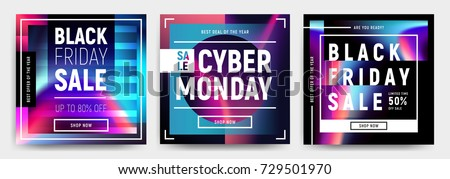 cyber monday social media sale banner ad vector template design stock photo © saqibstudio